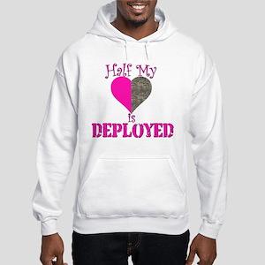 Half mt heart is deployed Hooded Sweatshirt