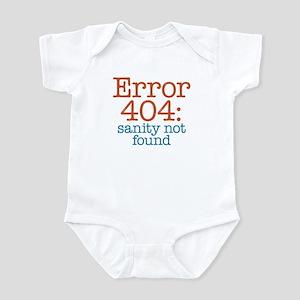 Error 404 Sanity Infant Bodysuit