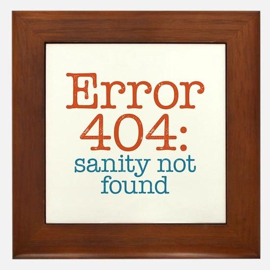 Error 404 Sanity Framed Tile