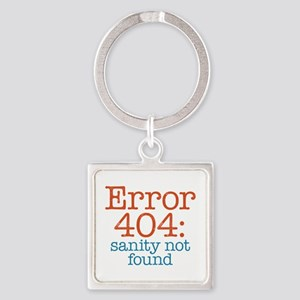 Error 404 Sanity Square Keychain
