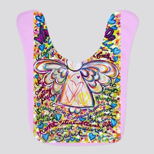 Spring Heart Cancer Angel Bib