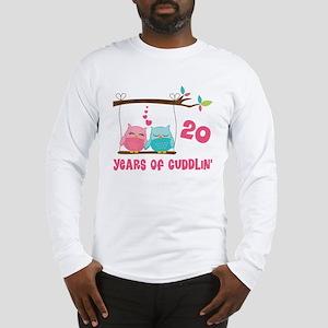 20th Anniversary Owl Couple Long Sleeve T-Shirt