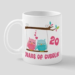 20th Anniversary Owl Couple Mug