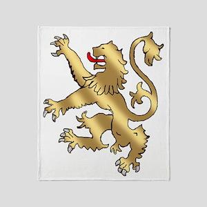 English Lion Rampant Throw Blanket