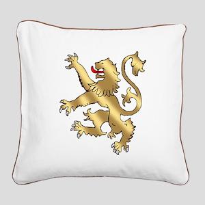 English Lion Rampant Square Canvas Pillow