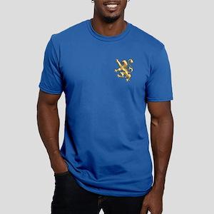 English Lion Rampant Men's Fitted T-Shirt (dark)