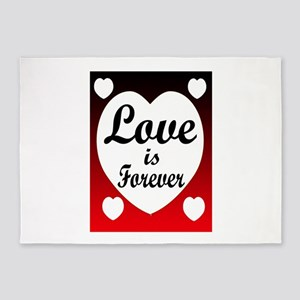 LOVE FOREVER 5'x7'Area Rug