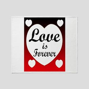 LOVE FOREVER Throw Blanket