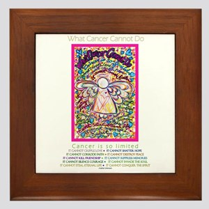 Spring Heart Cancer Angel Framed Tile