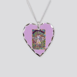 Spring Heart Cancer Angel Necklace Heart Charm