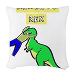 NERVOUS REX Woven Throw Pillow