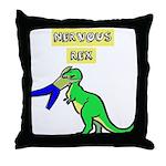 NERVOUS REX Throw Pillow
