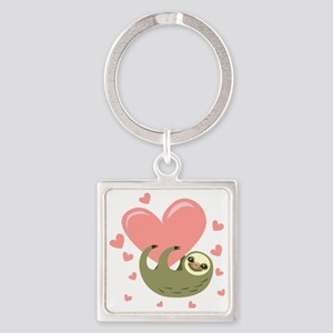 Sloth Square Keychain