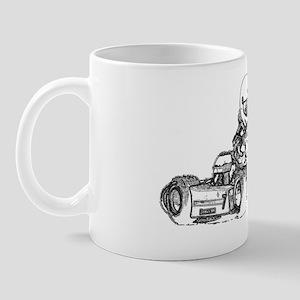 Kart Racing Pencil Sketched Mug