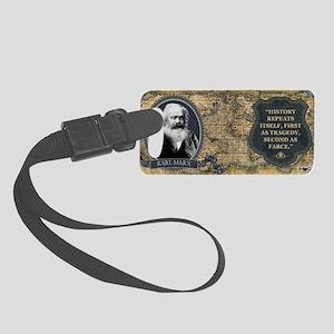 Karl Marx Historical Small Luggage Tag