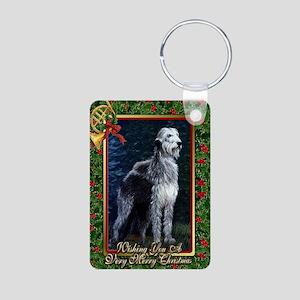 Irish Wolfhound Dog Christ Aluminum Photo Keychain