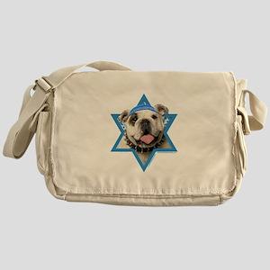 Hanukkah Star of David - Bulldog Messenger Bag