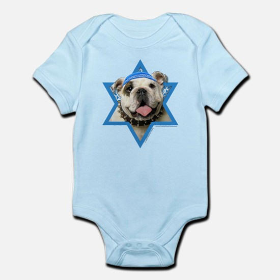 Hanukkah Star of David - Bulldog Infant Bodysuit
