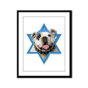 Hanukkah Star of David - Bulldog Framed Panel Prin