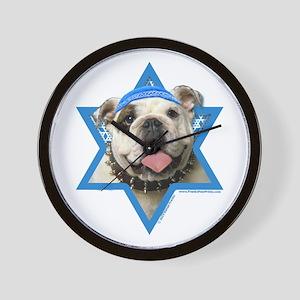 Hanukkah Star of David - Bulldog Wall Clock