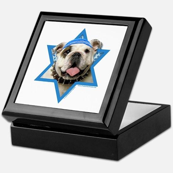 Hanukkah Star of David - Bulldog Keepsake Box