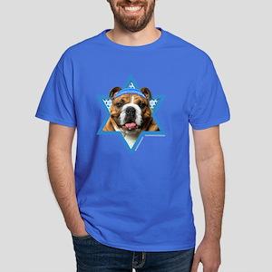 Hanukkah Star of David - Bulldog Dark T-Shirt