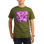 Pink Roses & Cherry Blossoms Organic Men's T-Shirt