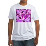 Pink Roses & Cherry Blossoms Fitted T-Shirt