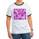 Pink Roses & Cherry Blossoms Ringer T