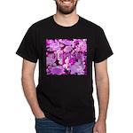 Pink Roses & Cherry Blossoms Dark T-Shirt