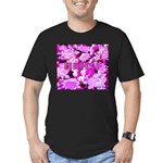 Pink Roses & Cherry Blossoms Men's Fitted T-Shirt