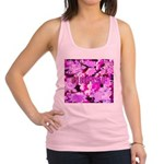 Pink Roses & Cherry Blossoms Racerback Tank Top