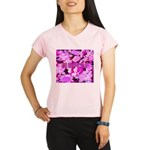 Pink Roses & Cherry Blossoms Performance Dry T-Shi