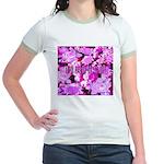 Pink Roses & Cherry Blossoms Jr. Ringer T-Shirt