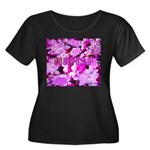 Pink Roses & Cherry Blossoms Women's Plus Size Sco