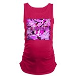 Pink Roses & Cherry Blossoms Maternity Tank Top