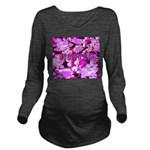 Pink Roses & Cherry Blossoms Long Sleeve Maternity