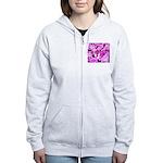 Pink Roses & Cherry Blossoms Women's Zip Hoodie