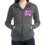 Pink Roses & Cherry Blossoms Zip Hoodie