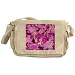 Pink Roses & Cherry Blossoms Messenger Bag