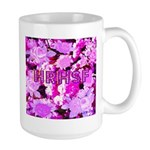 Pink Roses & Cherry Blossoms Large Mug
