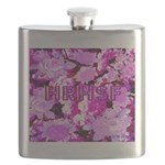 Pink Roses & Cherry Blossoms Flask