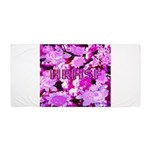 Pink Roses & Cherry Blossoms Beach Towel