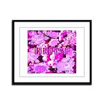 Pink Roses & Cherry Blossoms Framed Panel Print