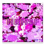 Pink Roses & Cherry Blossoms Square Car Magnet 3