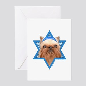 Hanukkah Star of David - Griffon Greeting Card