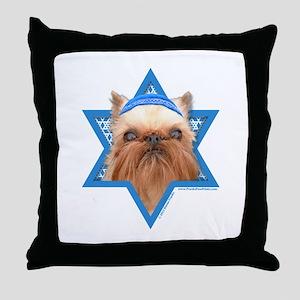 Hanukkah Star of David - Griffon Throw Pillow