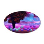 Bubble Garden 20x12 Oval Wall Decal