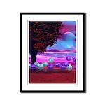 Bubble Garden Framed Panel Print