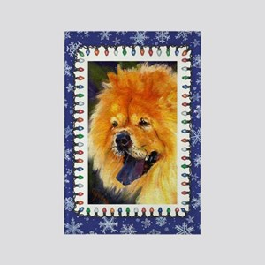 Chow Chow Dog Christmas Rectangle Magnet